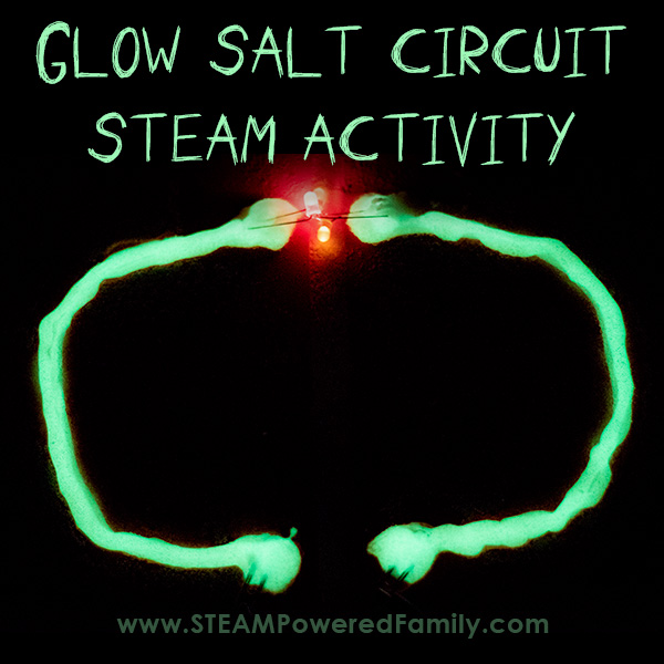 Easy electrical circuit activity that also glows in the dark