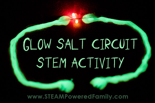 Easy electrical circuit activity that glows in the dark