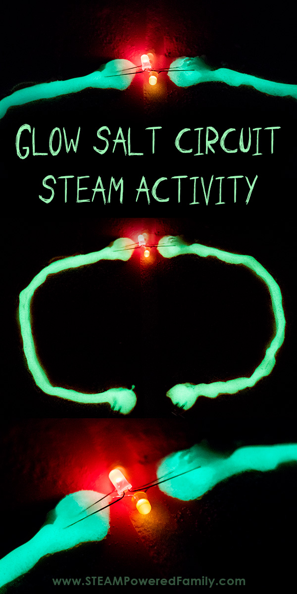 Glow salt circuits STEAM activity
