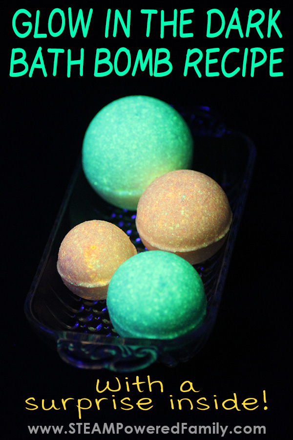 How to make glow in the dark bath bombs with chemistry lesson