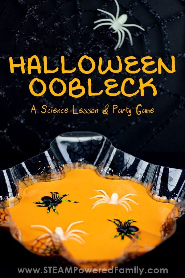 Halloween oobleck recipe
