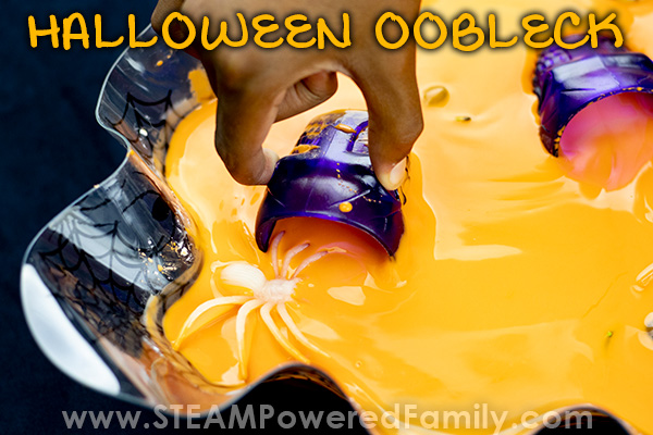 Halloween Oobleck with spiders