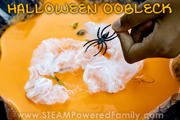 Spider Oobleck with webs