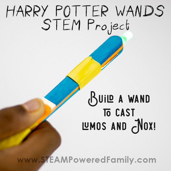 Harry Potter Wands STEM Project building simple circuits