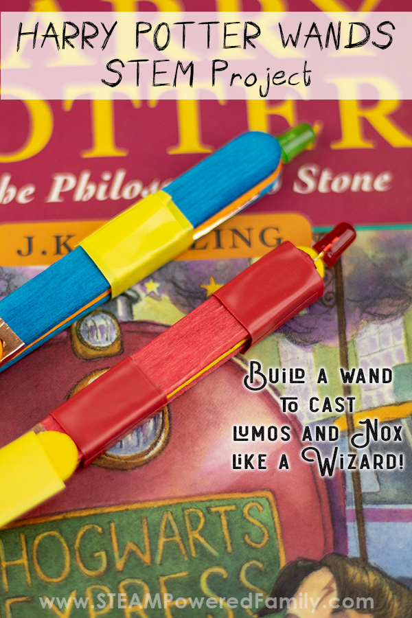 Harry Potter Wands that light up with homemade circuits