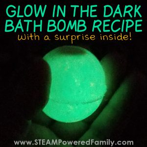 Glow in the dark bath bomb recipe