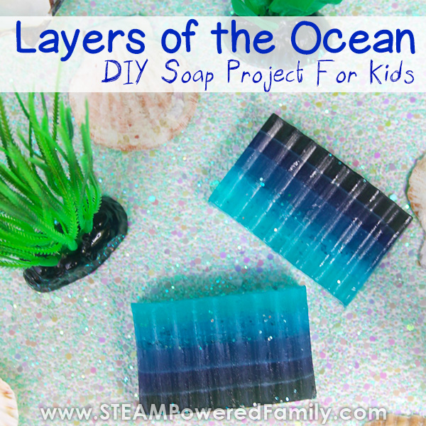 Layers of the Ocean Soap project for kids