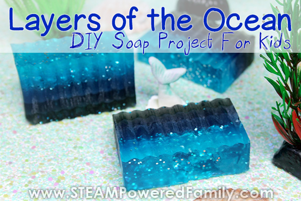 Easy and Beautiful Layers of the Ocean Soap Project For Kids