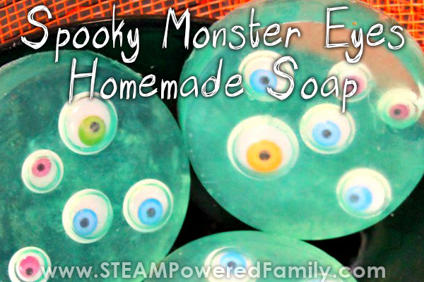 Googly Monster Eyes Soap Making