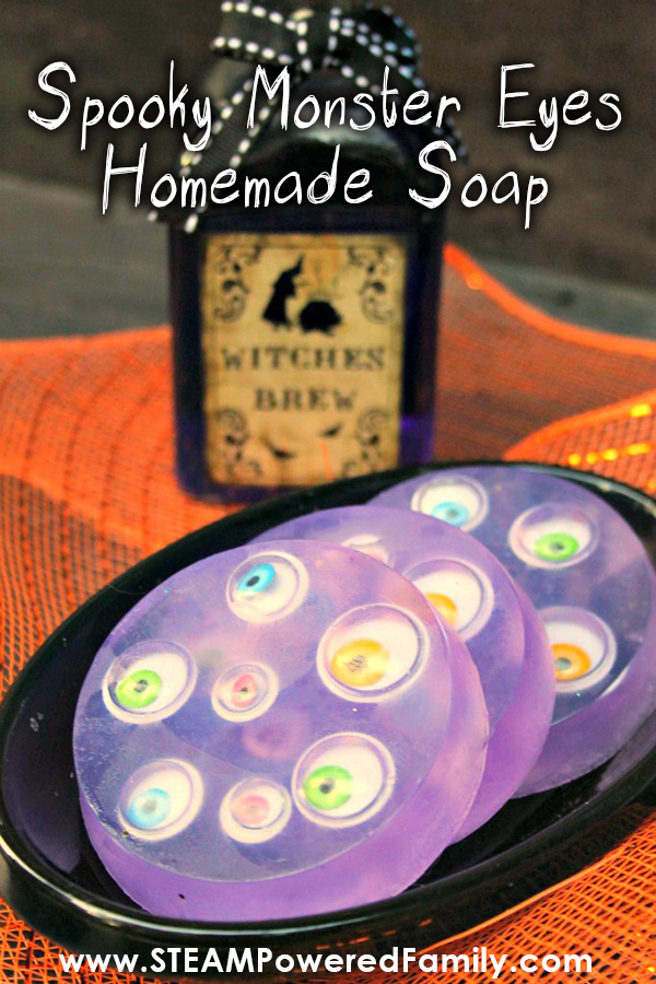 Spooky Googly Monster Eyes Soap Project for Halloween