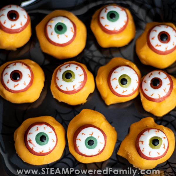 Monster eyes truffle recipe for Halloween