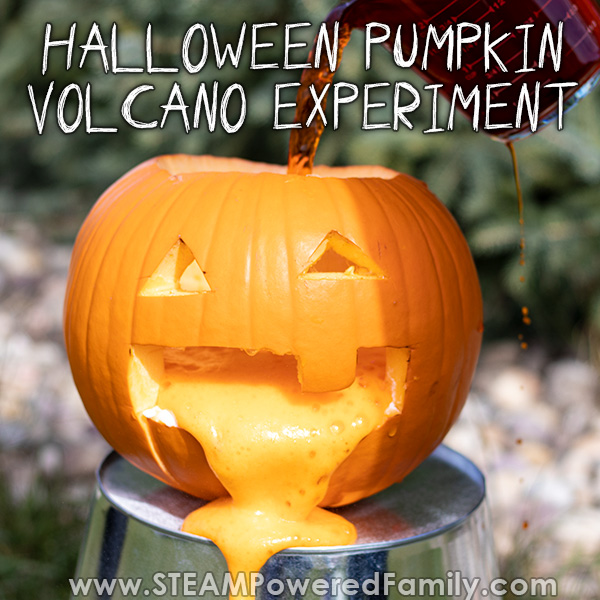Halloween Pumpkin Volcano Science Project