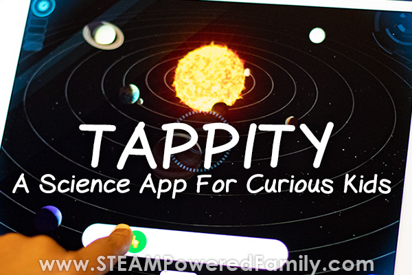 Tappity science app for elementary aged kids