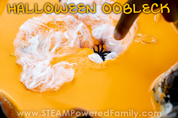 Fascinating Oobleck with spiders and webs