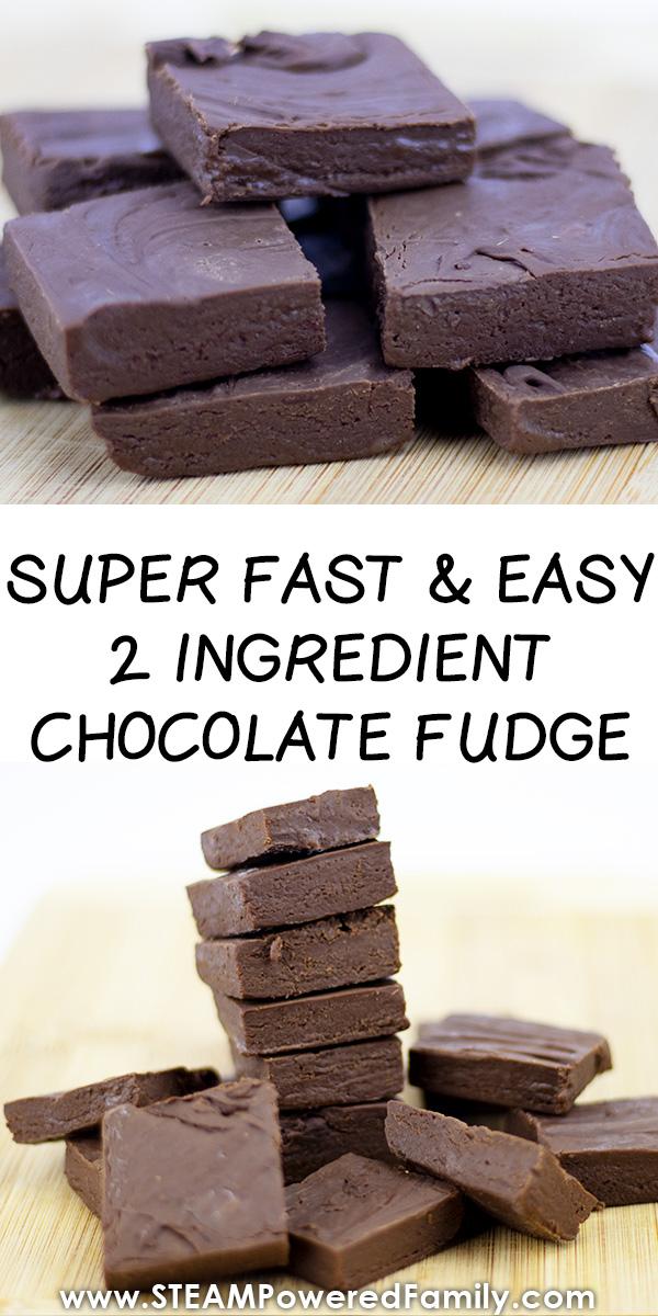 Super fast and easy fudge recipe