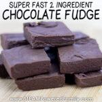 2 ingredient chocolate fudge recipe