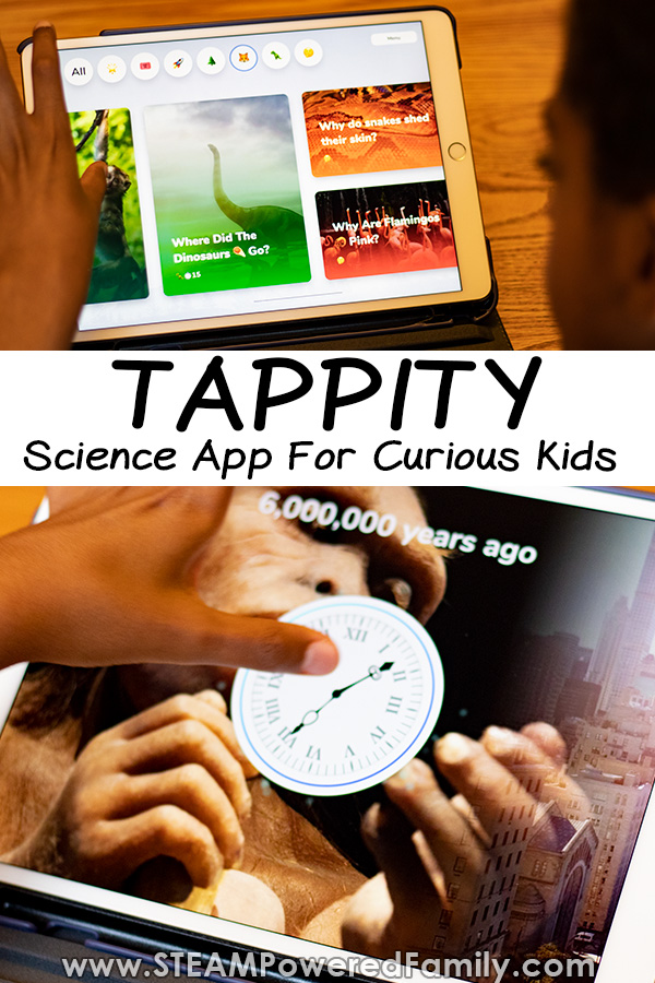 Tappity Science App for elementary aged kids. Interactive storytelling for curious kids