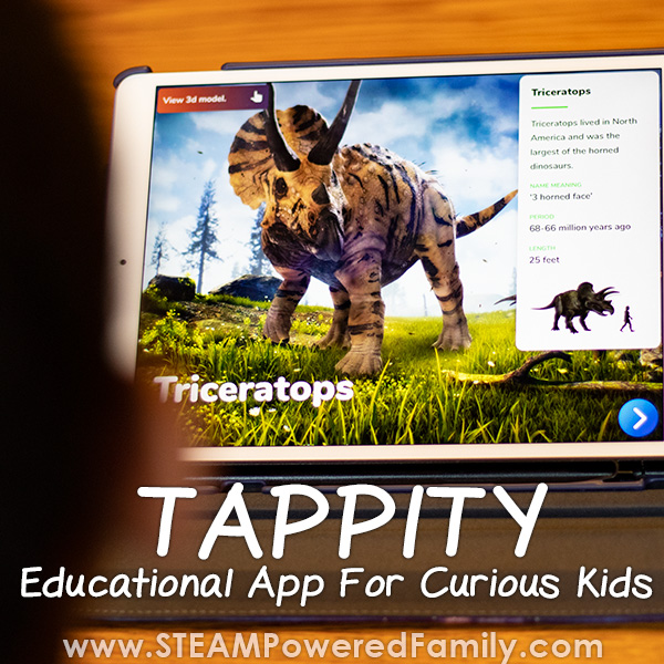 Tappity app for curious kids who love science and dinosaurs