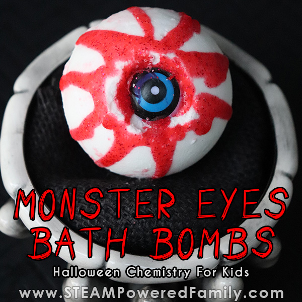 Chemistry Halloween Project Monster Eye Bath Bombs