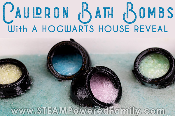Cauldron bath bombs with Harry Potter theme
