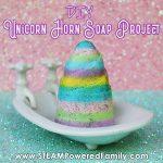 Homemade unicorn horn soap