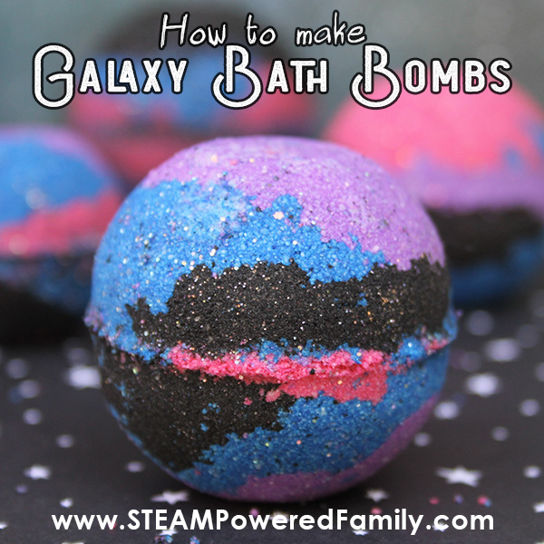 How to make Galaxy Bath Bombs with activated charcoal