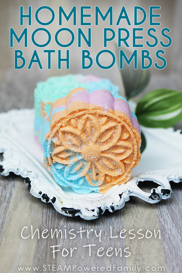 Press Bath Bombs for Teens with science lesson