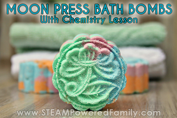 Press bath bombs science lesson for kids and gifting