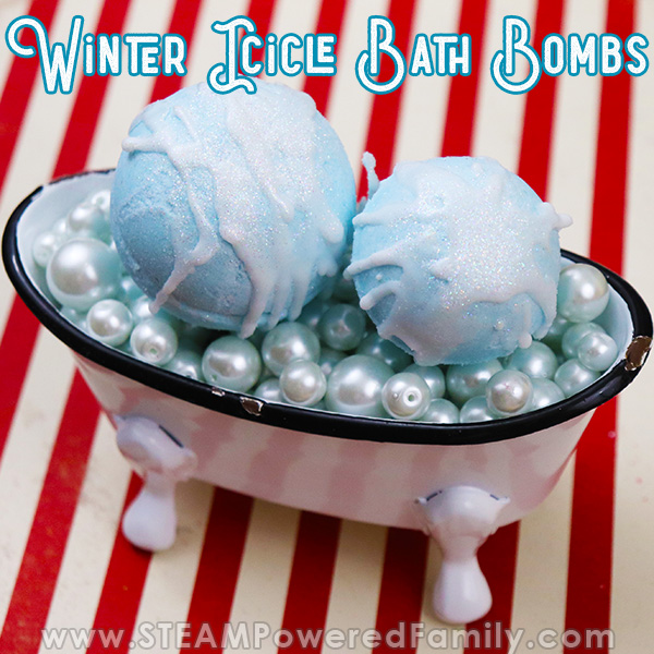 Icicle Bath Bomb STEAM Project for Winter