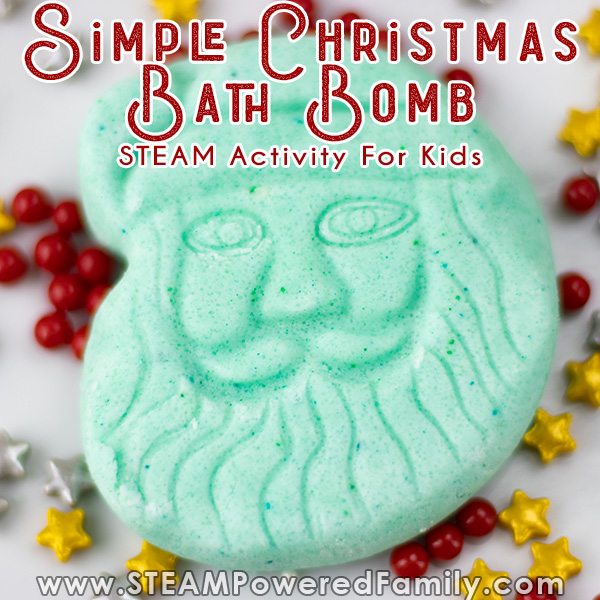 easy Christmas bath bombs for kids to make and decorate this holiday season