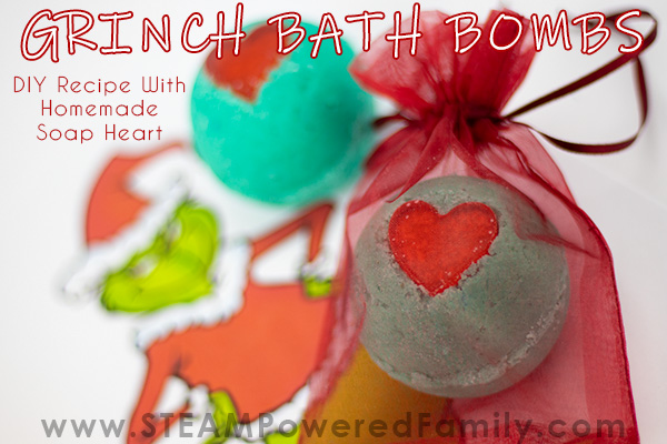 Grinch Christmas Bath Bombs make great gifts