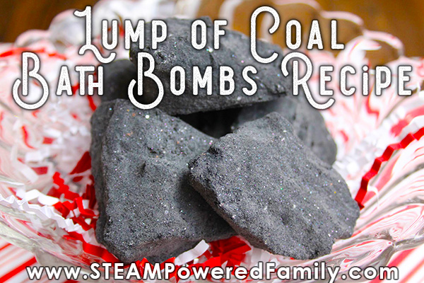 Lump of Coal Bath Bombs for Christmas