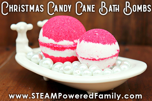 Christmas Candy Cane Bath Bombs