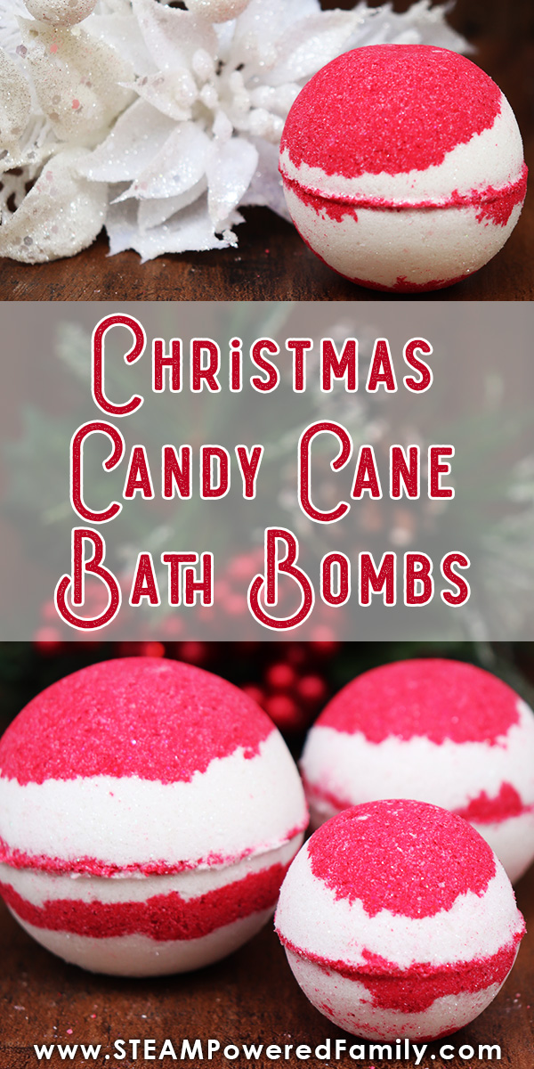 Christmas Bath Bombs inspired by Candy Canes