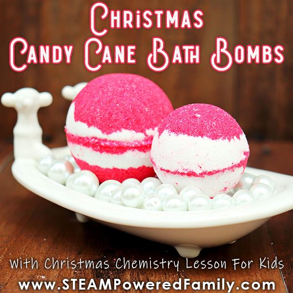 Christmas Bath Bombs.Christmas Candy Cane Bath Bombs With Christmas Chemistry Lesson