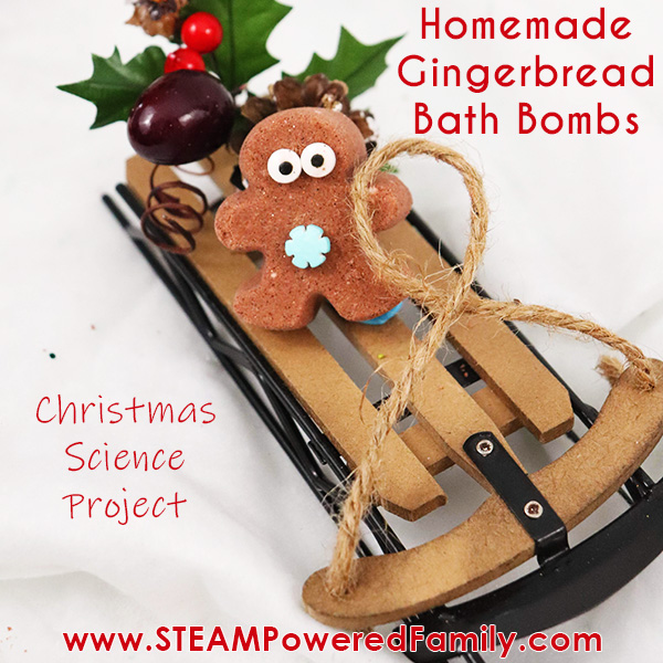 Gingerbread bath bombs for the kids this holiday