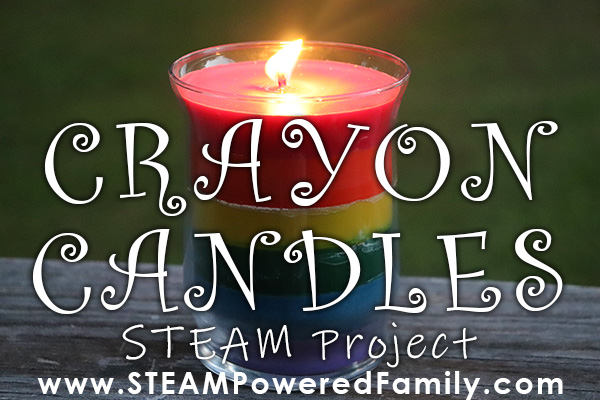 Gorgeous Rainbow Crayon Candles DIY STEAM Project For Kids