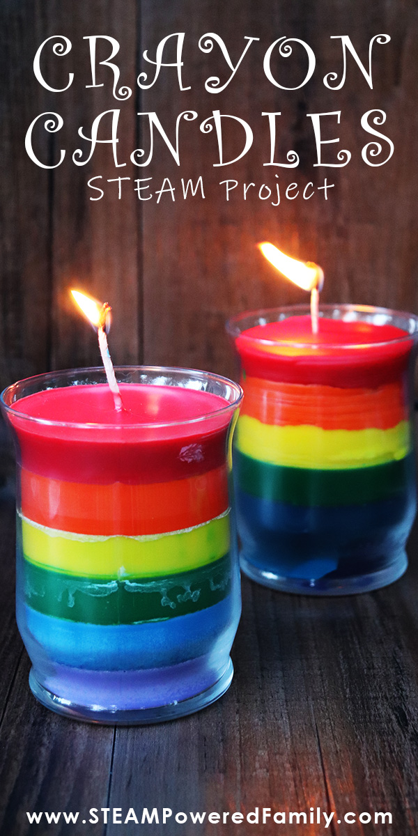 Gorgeous Crayon Candles STEAM Project for Kids