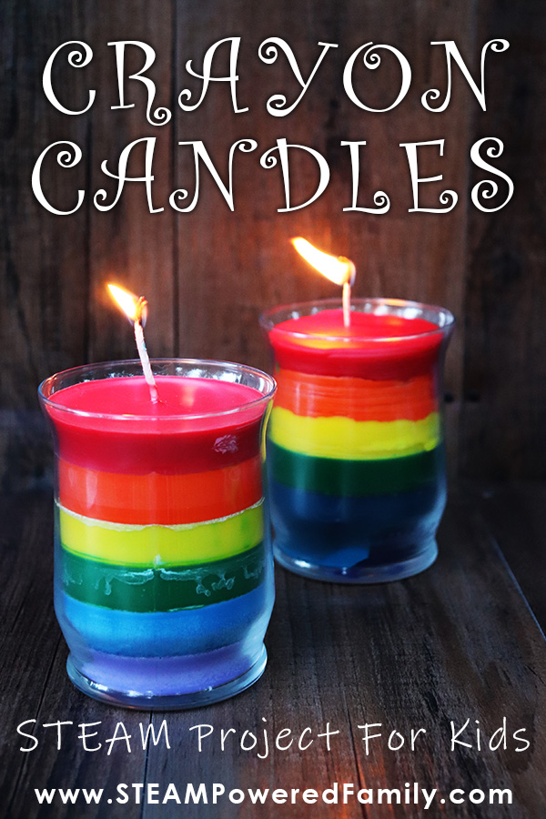 Gorgeous Rainbow Crayon Candles