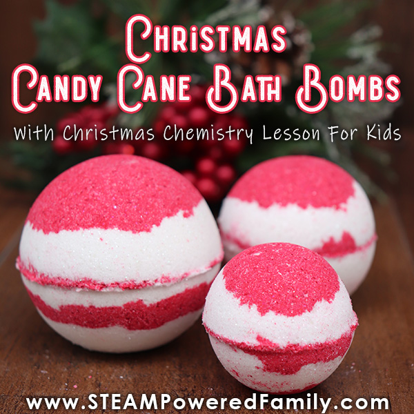 Christmas Candy Cane Bath Bomb Recipe