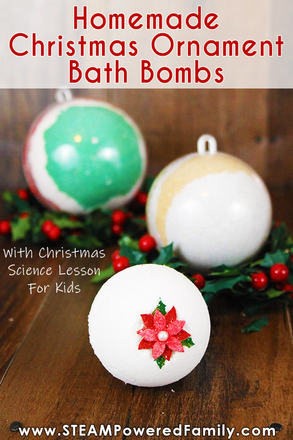 Homemade Christmas Ornament Bath Bombs