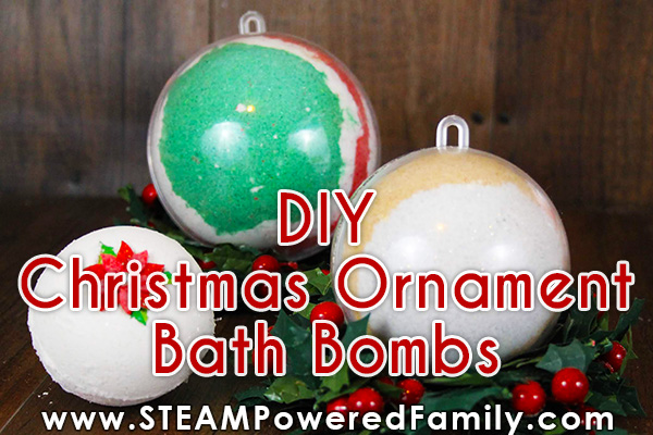Christmas Ornament Bath Bombs Recipe and Making Instructions