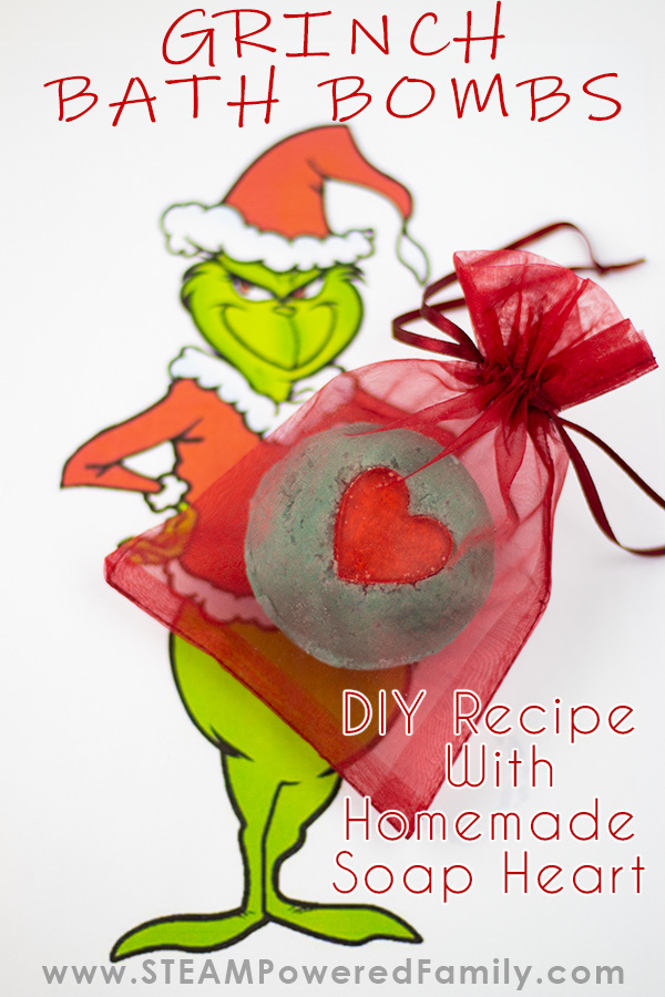 Grinch Christmas Bath Bombs To Make With the Kids