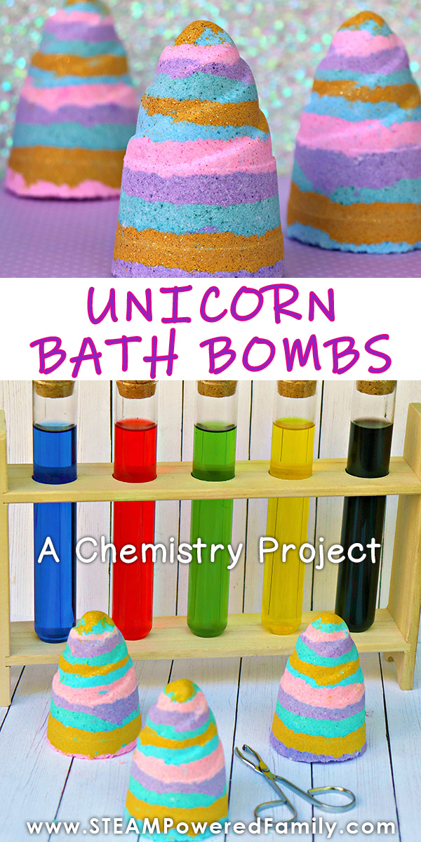 Rainbow unicorn bath bombs recipe