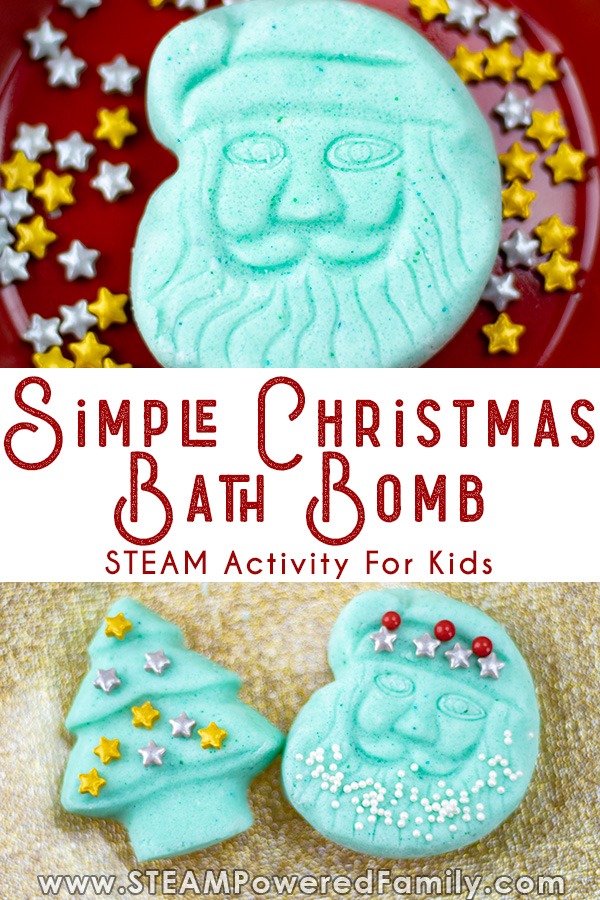 easy Christmas bath bomb recipe for kids to decorate