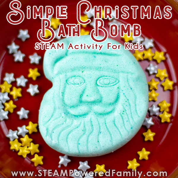 easy Christmas bath bombs for kids