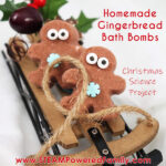 Gingerbread man bath bombs recipe and decorating project for kids