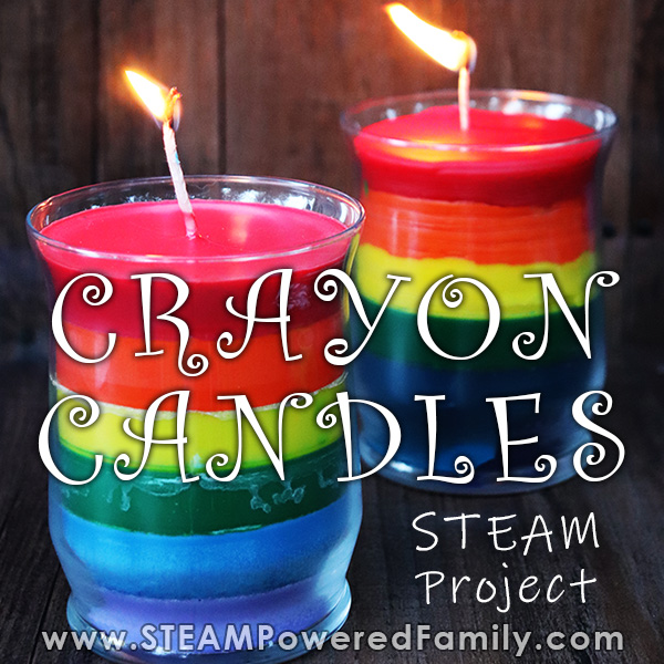 Gorgeous Crayon Candles with STEAM lesson