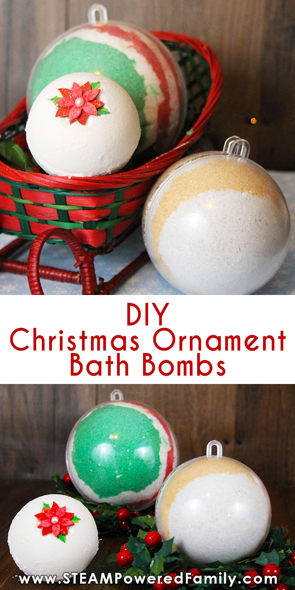 Homemade Christmas Ornament Bath Bombs For The Kids To Make