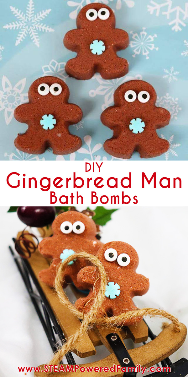 Gingerbread man bath bombs for Christmas